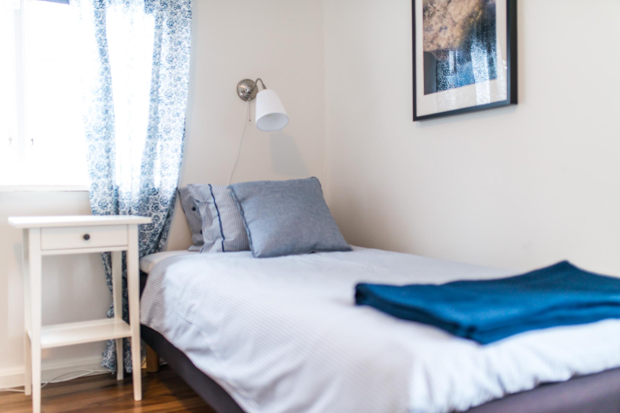 Mysiga rum med sköna sängar